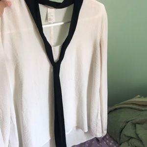 H&M Black and White Shirt